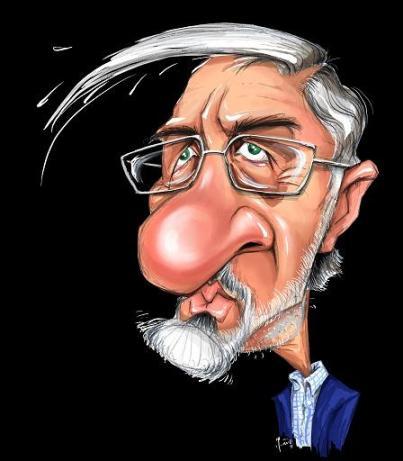 کاریکاتور میرحسین موسوی